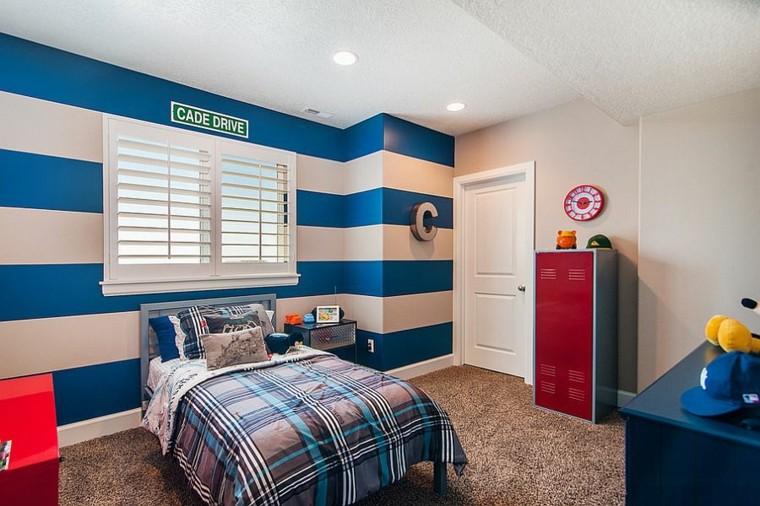 Habitacion juvenil en azul