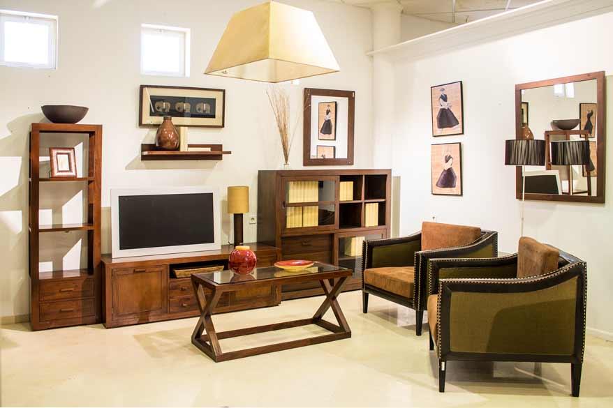 salon moderno muebles rusticos