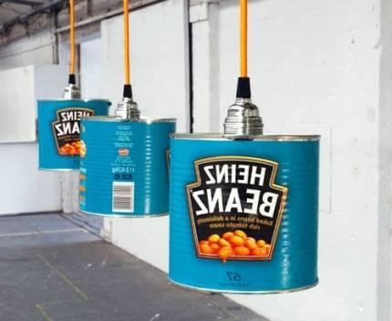 lámparas recicladas con latas