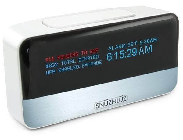 Reloj despertador que dona tu dinero