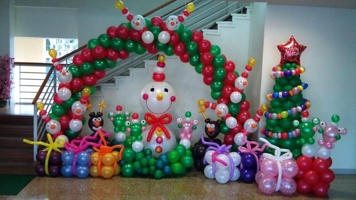 decoracion globos de navidad